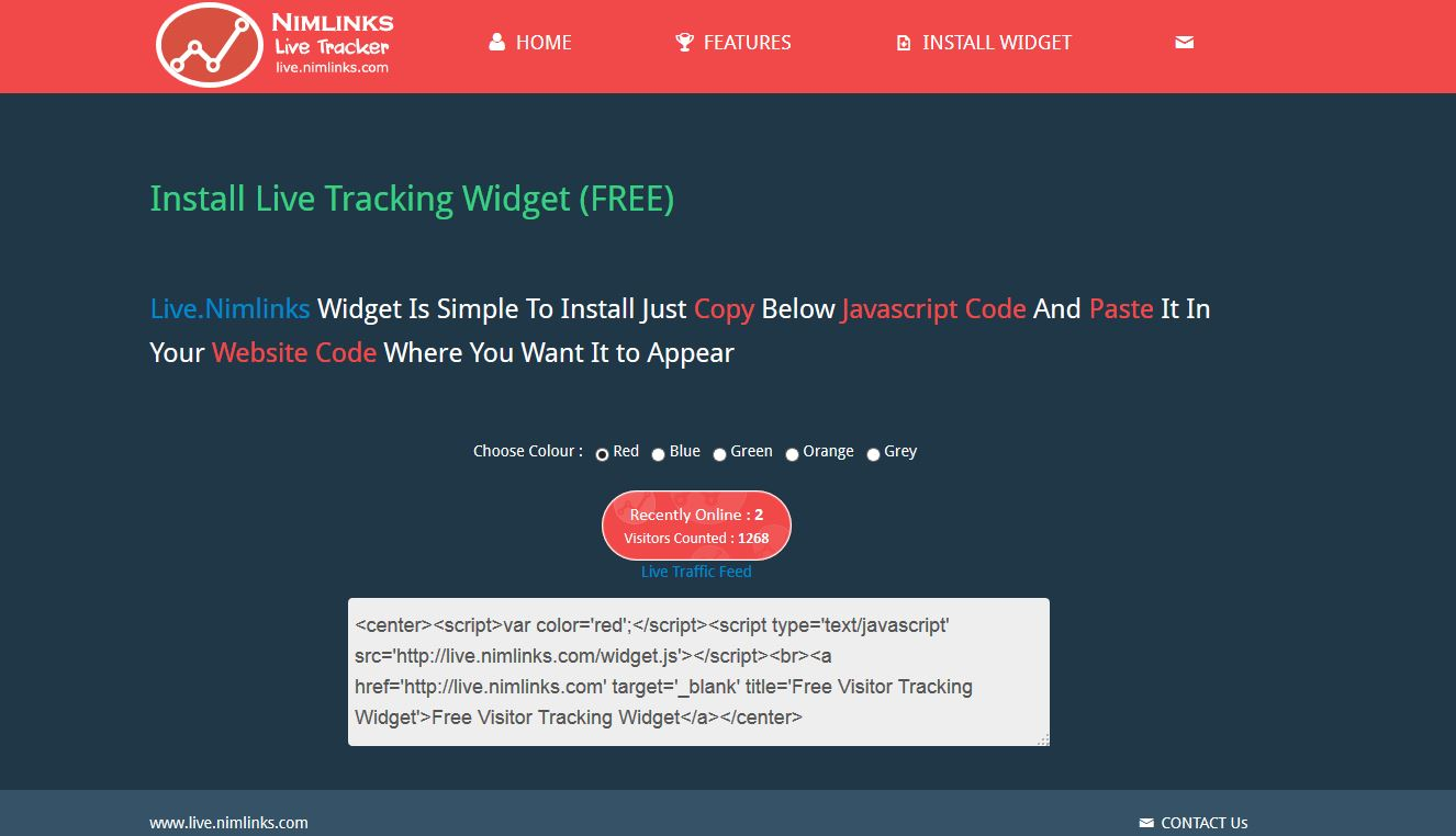 Install Live Tracking Widget (FREE)