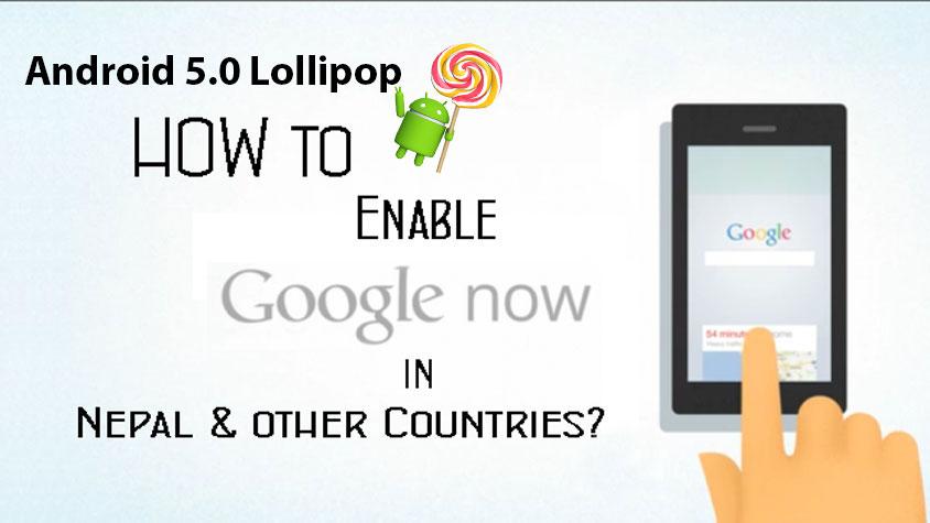 Enable Google Now