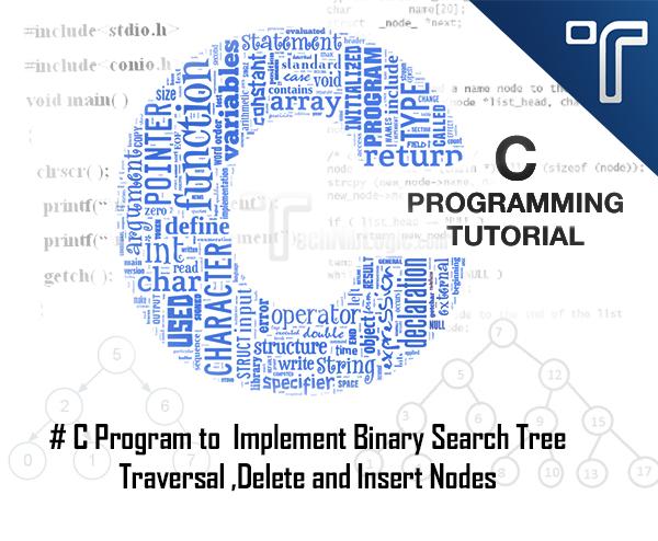 Binary Search Tree in C