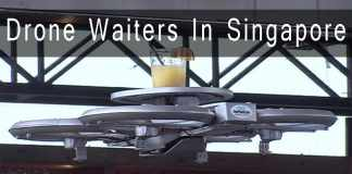drones as waiters in singapore