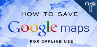 How to save Google Maps for offline use