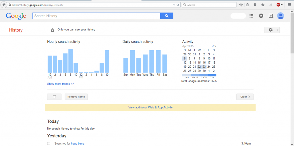 Google Web History - techniblogic