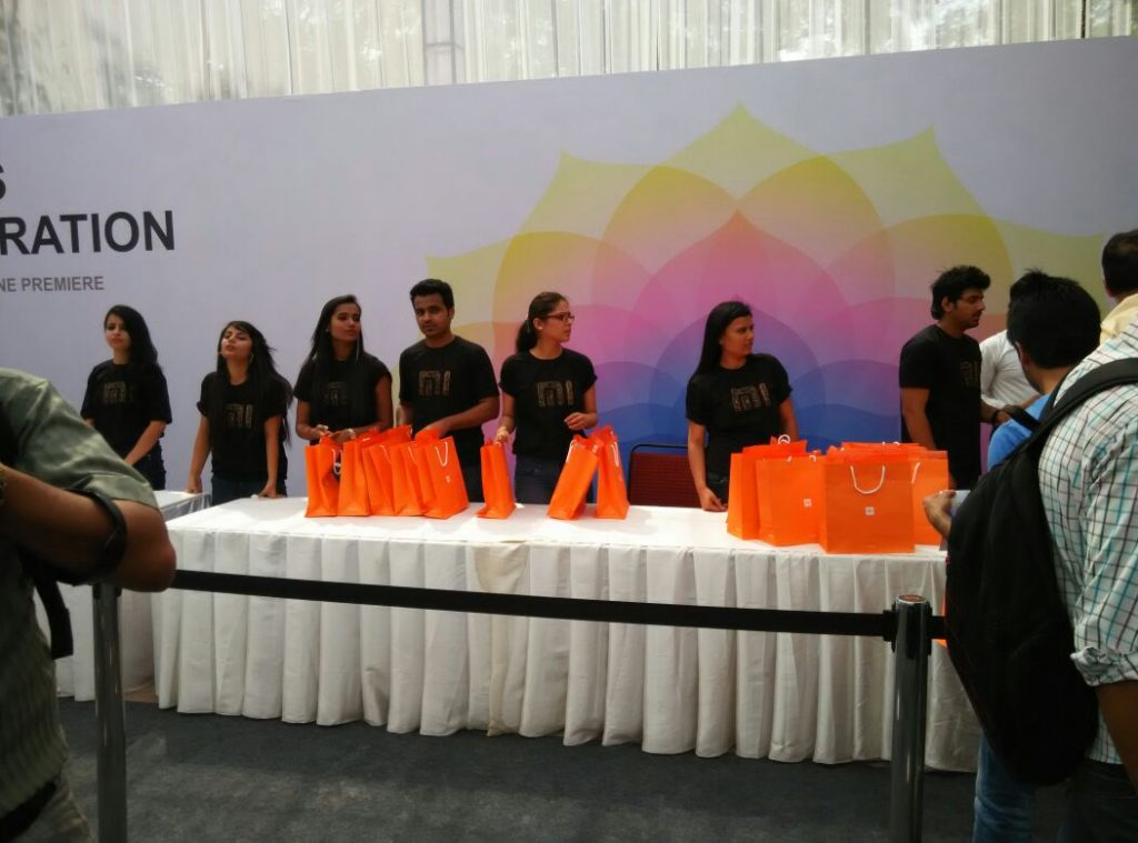 Xiaomi India launch Registration Desk- Techniblogic