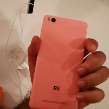 Xiaomi mi4i back with mi logo Pink - techniblogic
