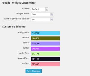 feedjit-Customize-panel-techniblogic