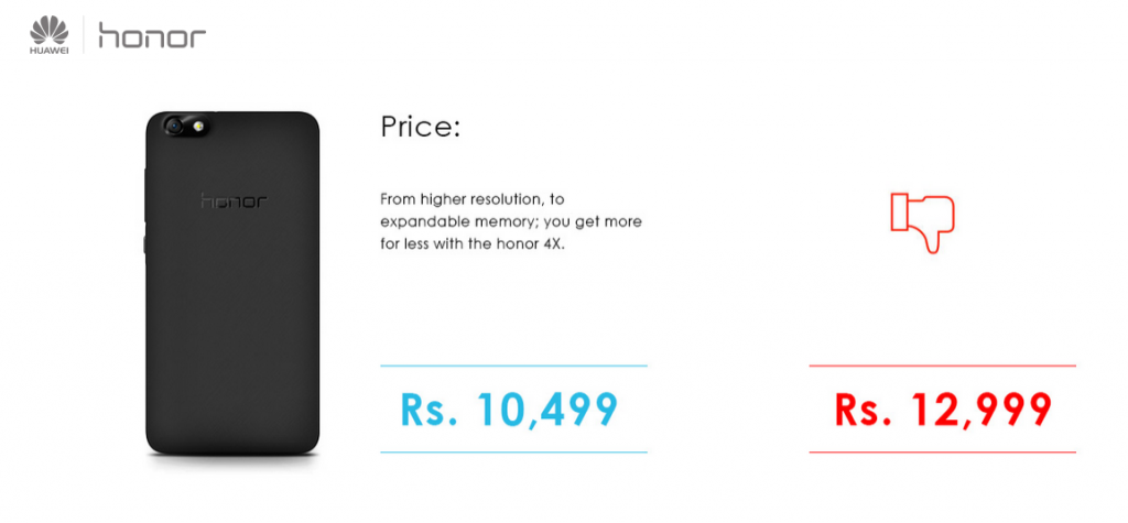 honor4x attacks price on Xiaomi mi4 - techniblogic