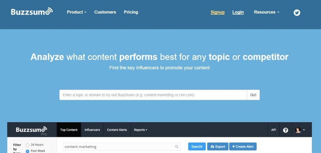 BuzzSumo Find the Most Shared Content and Key Influencers-techniblogic
