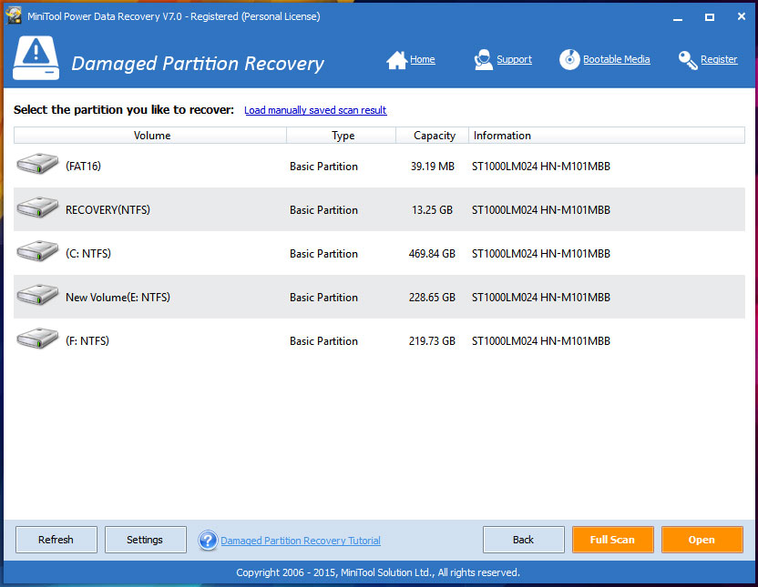 MiniTool Power Data Recovery 7 - techniblogic
