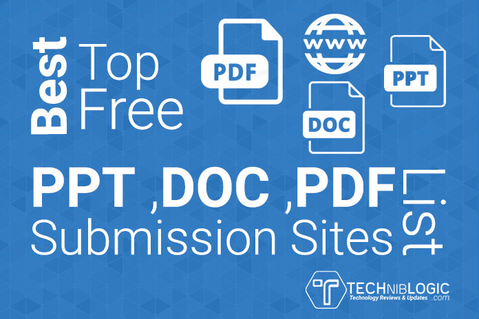 Best Top Free PPT ,DOC ,PDF Submission Sites List