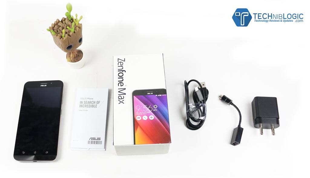 Asus Zenfone Max Box Content - Techniblogic