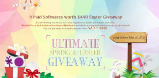 9 Paid Softwares worth $440 Easter Giveaway by WonderFox