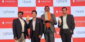 Sachin Tendulkar unveils the Ultrabook convertible t.book & premium Smartphone t.phone