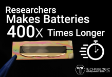 Researchers Makes Batteries 400x Times Longer