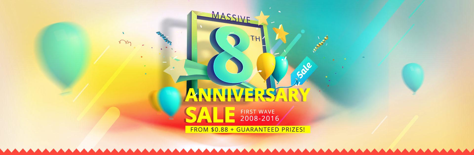 Massive Everbuying Anniversary Sale Starting at 0.88$