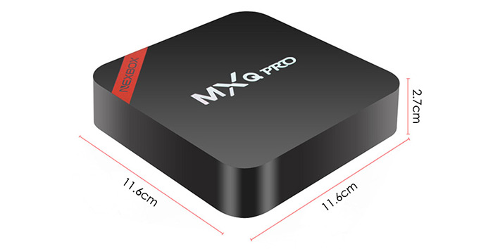 NEXBOX MXQ PRO TV Box Dimentions - techniblogic