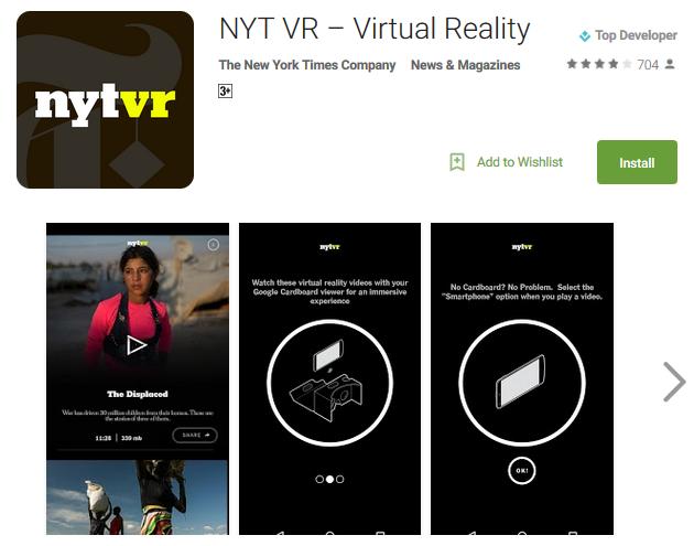 NYT VR – Virtual Reality