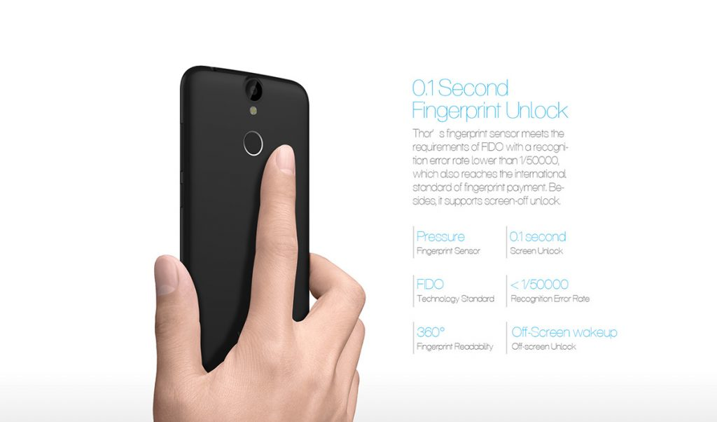 Vernee Thor 4G Fingerprint - techniblogic