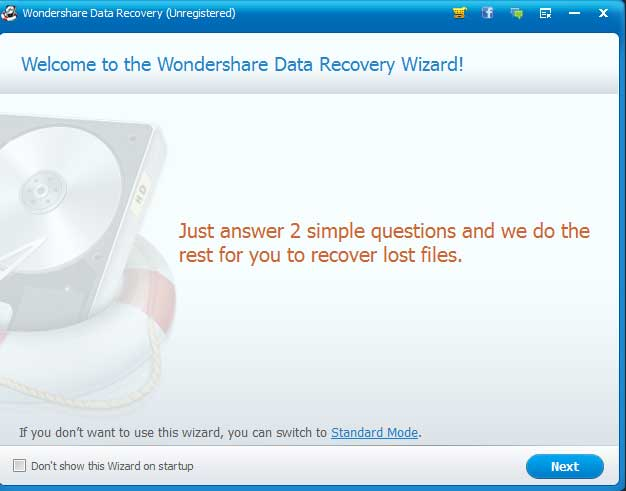 4-Wondershare Data Recovery
