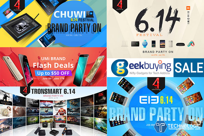 GeekBuying 4th Anniversary Sale - Top Brands Deal & Discounts