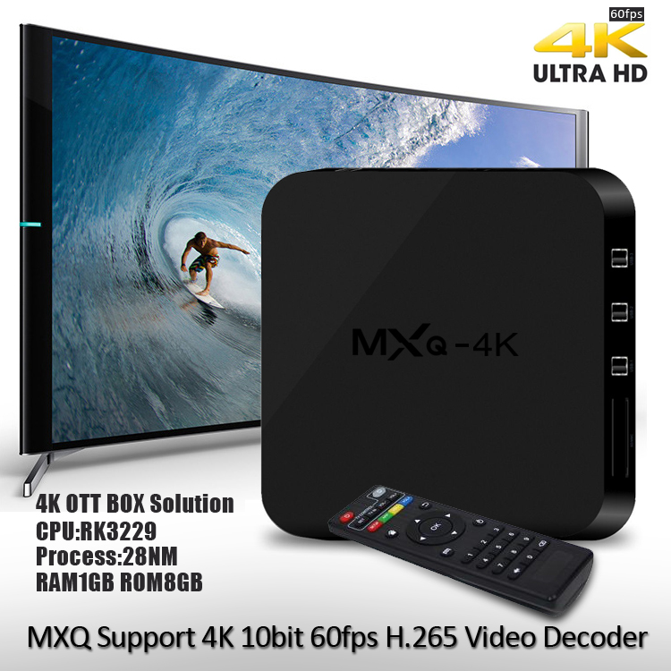 MXQ 4K RK3229 Smart TV Box