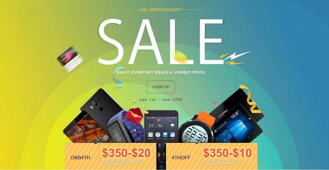 Super Deals on Geekbuying Anniversary Sale techniblogic
