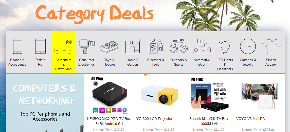 category Deals gearbest