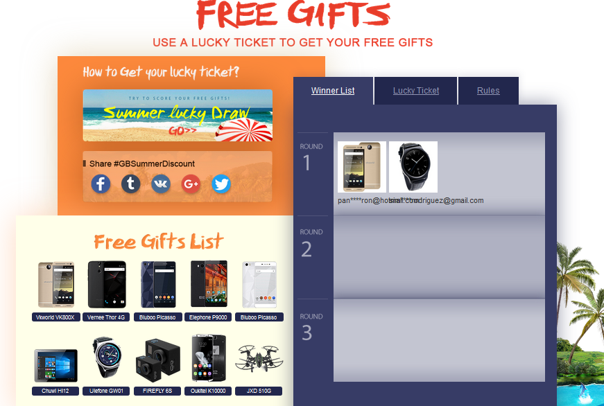 free gifts by gearbest