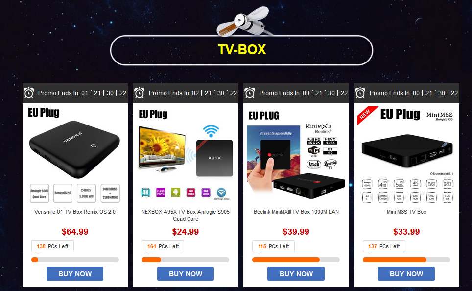 tv box gearbest
