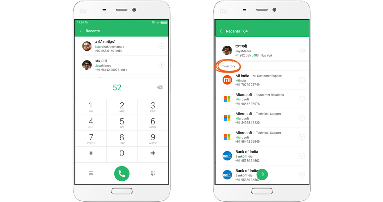T9 dialer with Hindi search