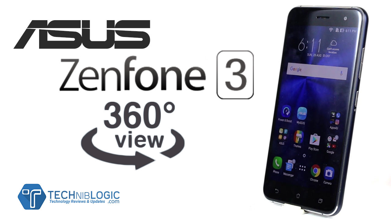 Asus Zenfone 3 – 360 Degree,3D view, 360° spin