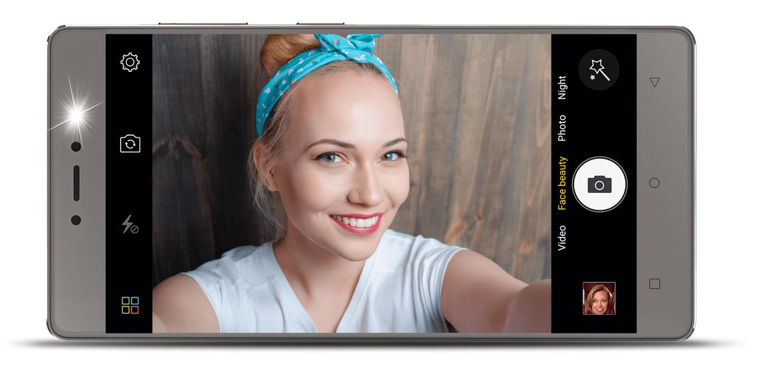 Gionee S6s with Selfie flash