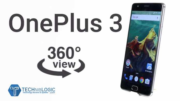 OnePlus-3-360-Degree,3D-view,-360°-spin