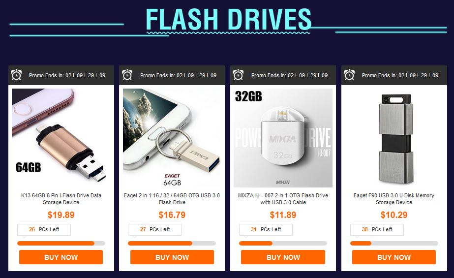 gearbest discount flash drives