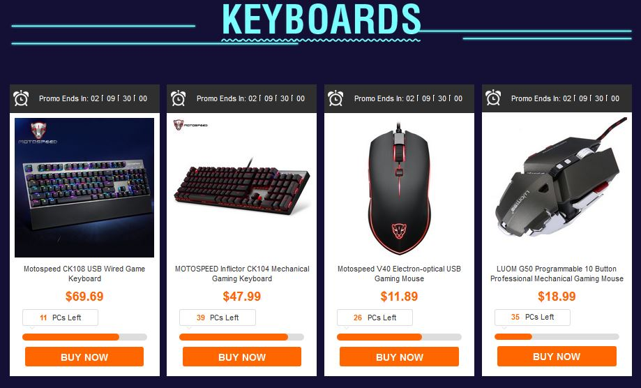 gearbest discount keyboards