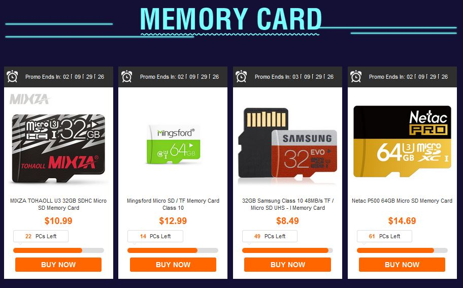 gearbest discount memory card