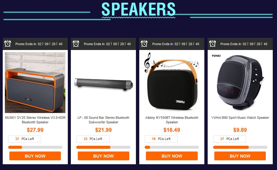 gearbest discount speckers