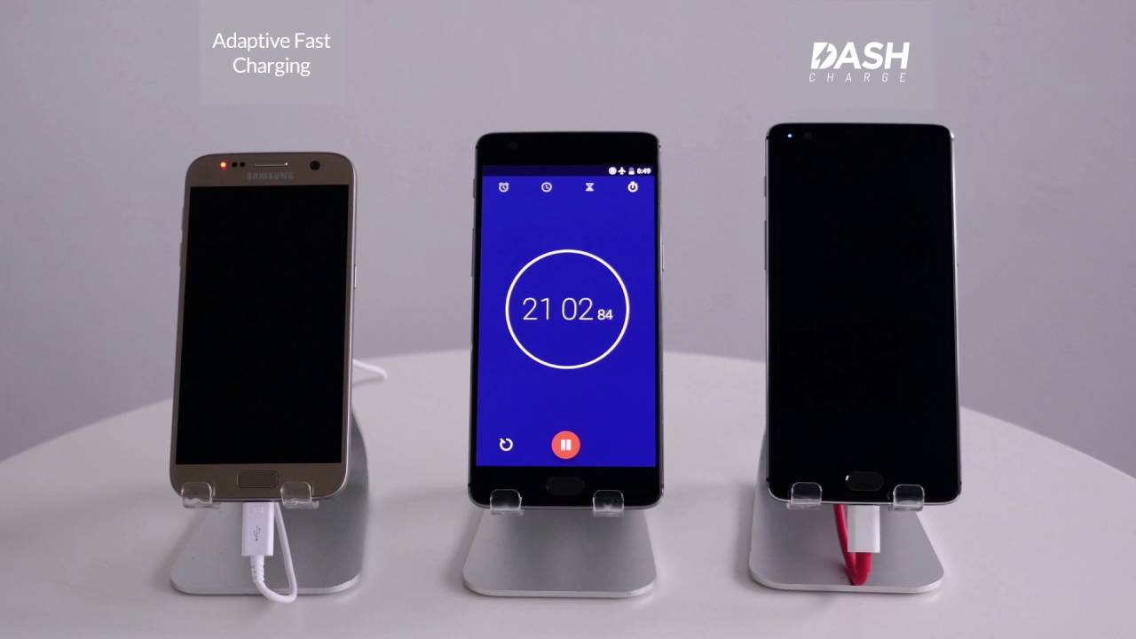 Oneplus 3 Dash Charging vs Galaxy s7 - techniblogic