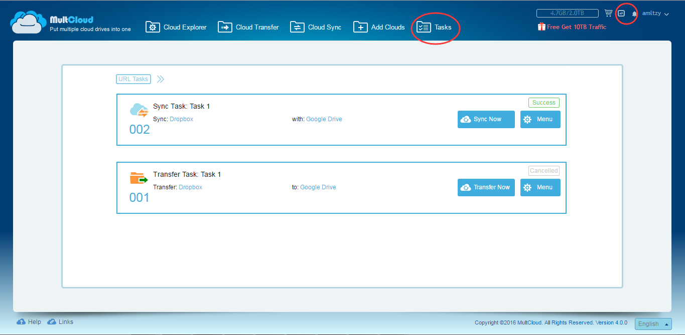 Sync Services Subscription >> MultCloud 4.0 and Sync Feature Review | Techniblogic