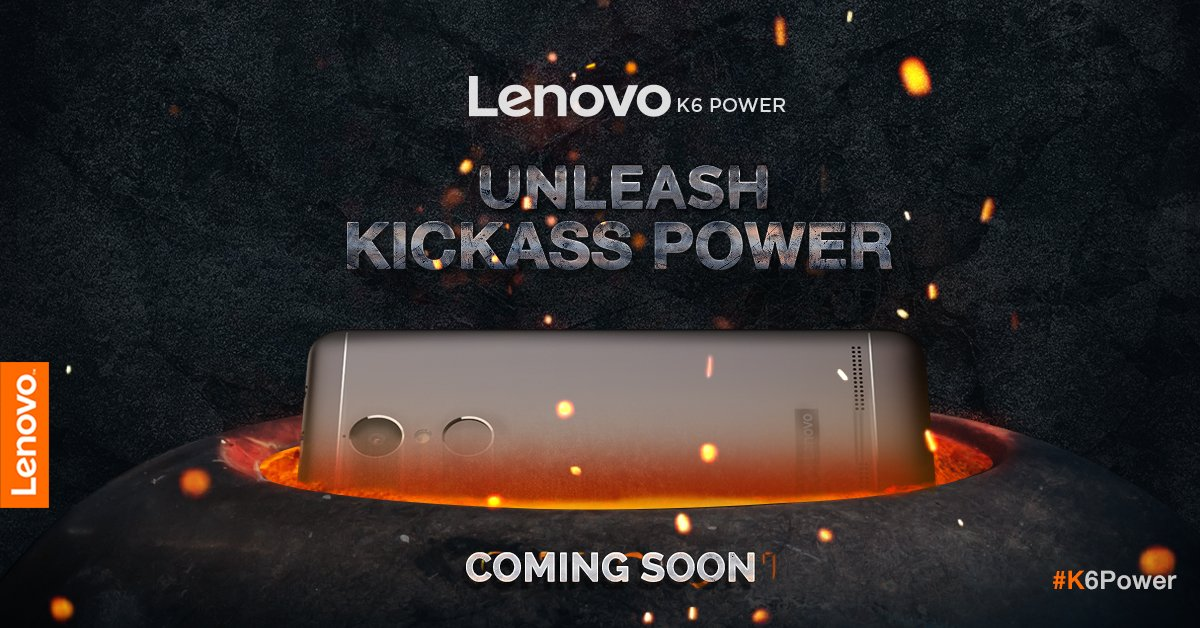 Lenovo K6 Power With 4000 mAh Battery