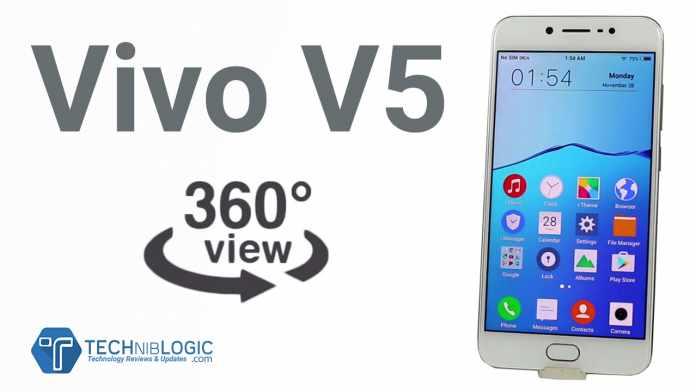 Vivo V5 – 360 View,3D view, 360° Degree spin
