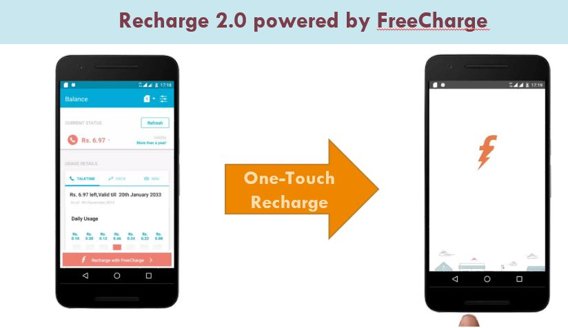 recharge powered by freecharge
