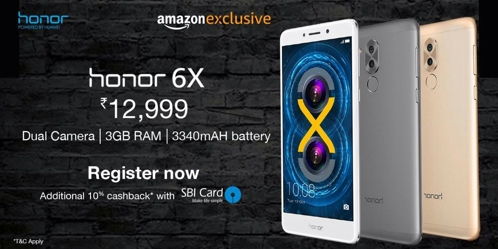 Honor 6X launched in India with Dual Camera at 12,999 INR 1