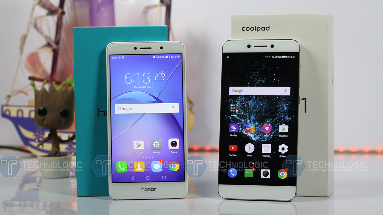 Honor6x-vs-Redmi-note-4-Front-panel-techniblogic