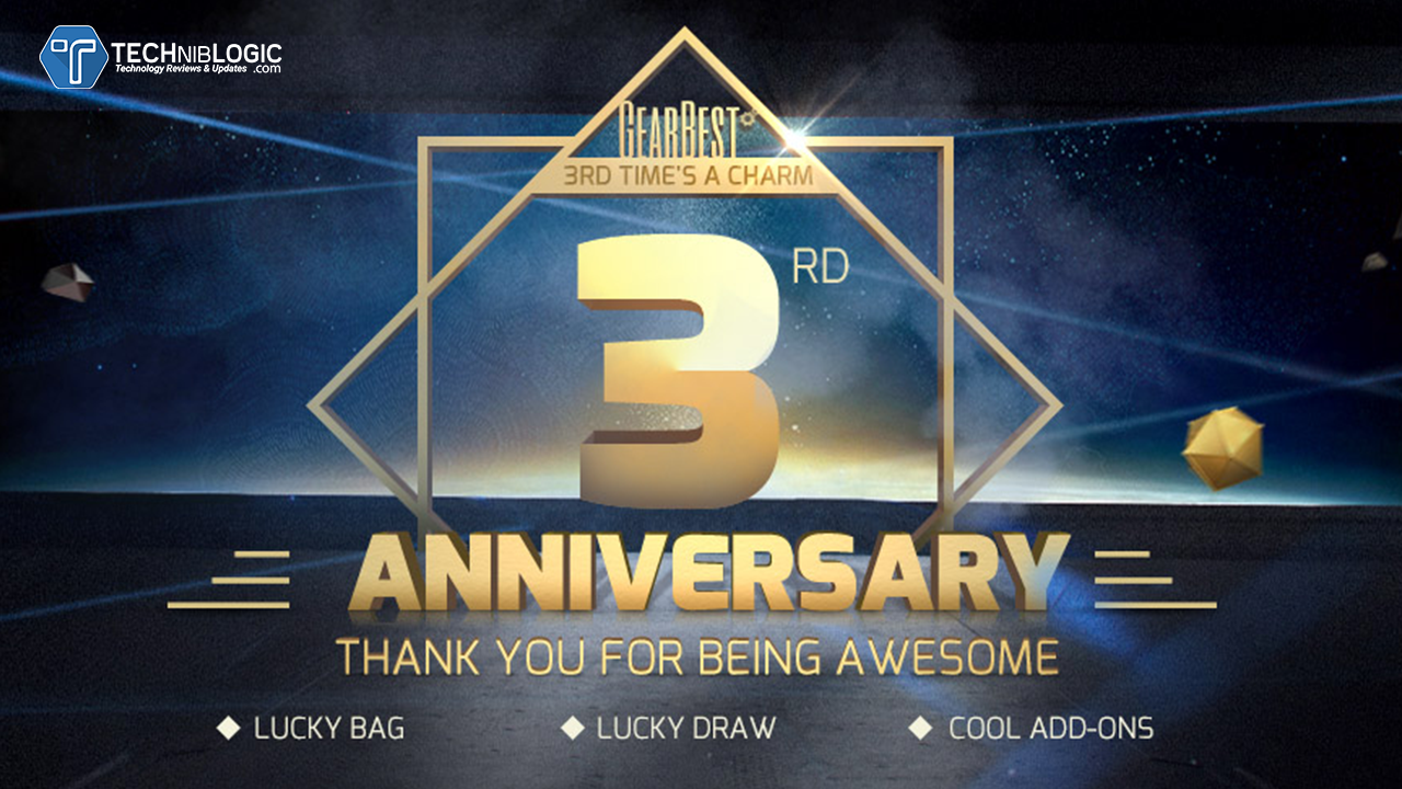 The Gearbest 3rd Anniversary Lucky Deals for You