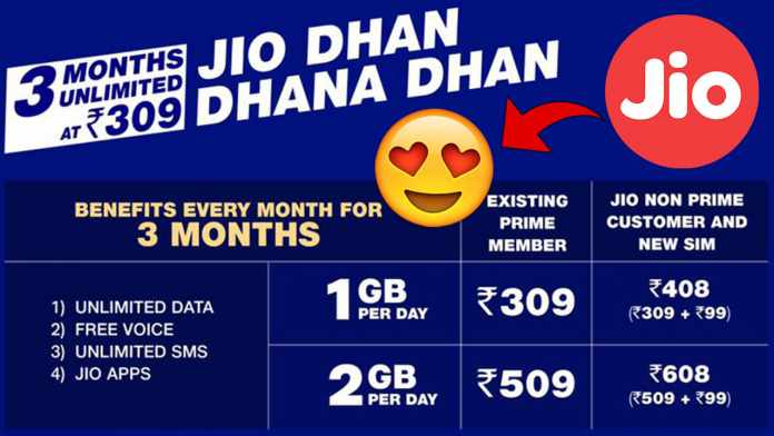 Jio Dhan Dhana Dhan Offer Launched
