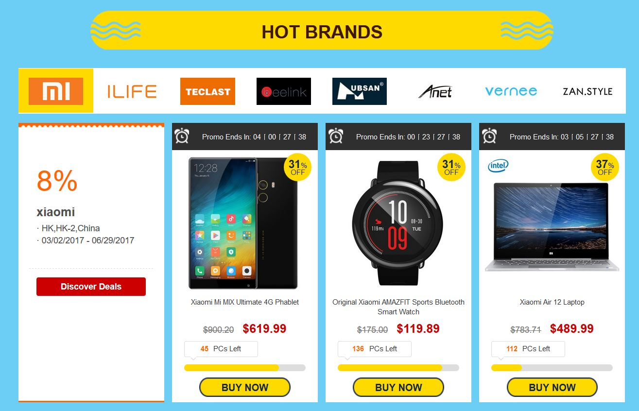 gearbest hot brands deals techniblogic