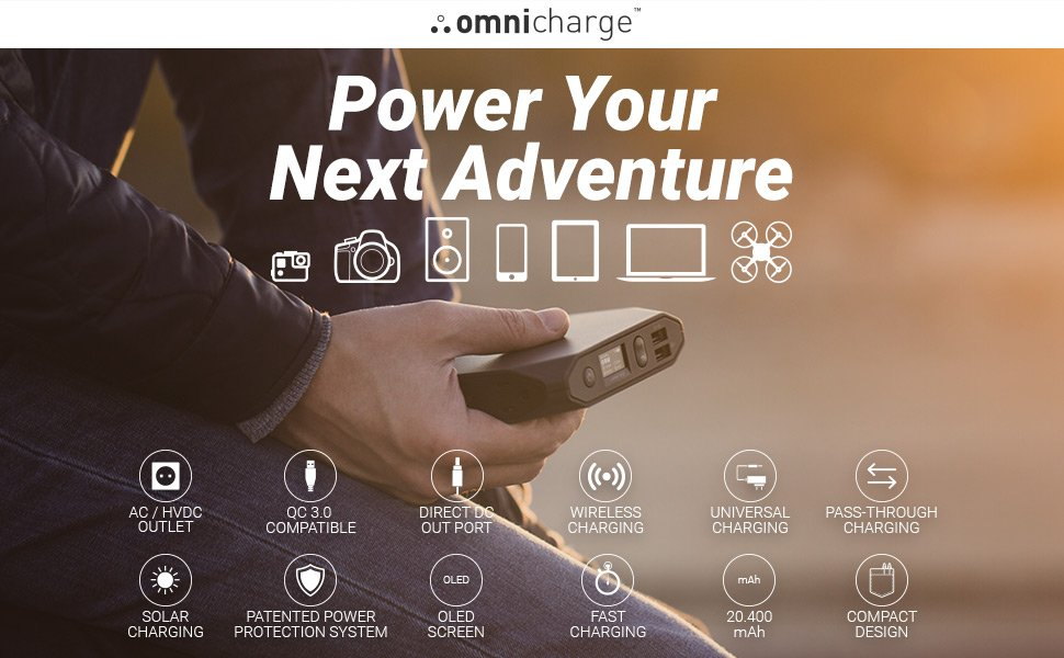Charge anything with OmniCharge Powerbank