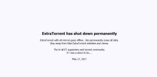 Extratorrent shutdown