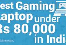 Top Best Gaming Laptop under 80000 Rs in India