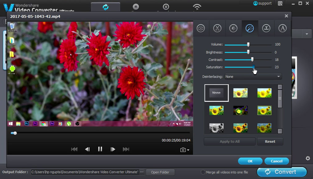 Wondershare-video-converter-color-grading